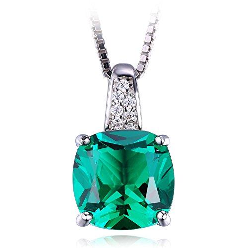 Jewelrypalace-342ct-Grn-Synthetisch-Prinzessin-Schliff-Nano-Russisch-Smaragd-Anhnger-Kette-Halskette-925-Sterling-Silber-Damen