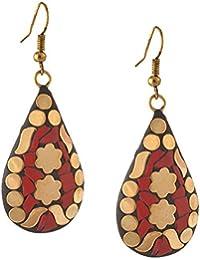 Zephyrr Jewellery Handmade Lightweight Tibetan Hook Dangler Earrings for Women and Girls