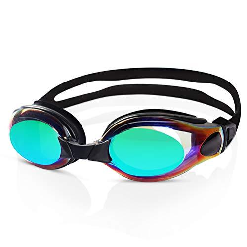 GYWY Schwimmbrille Verstellbare, Klarem Objektiv Schwimmbrille Ohne Leakage Wasserdichter Antibeschlag UV Schutz Triathlon Schwimmbrille für Männer Frauen Erwachsene,Green