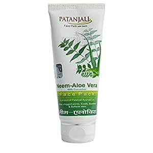 Patanjali Aloevera Neem Cucumber Face Pack, 60g – pack of 2
