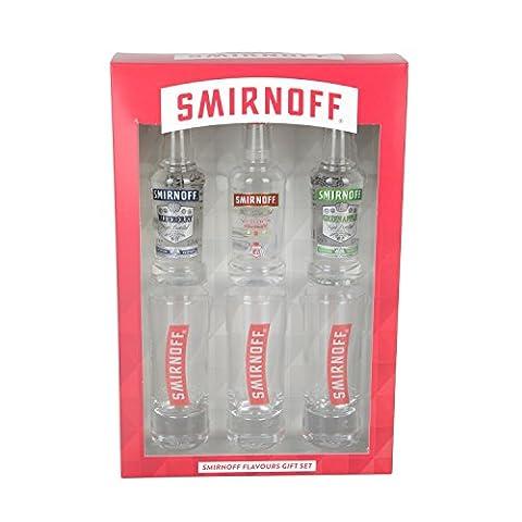 Smirnoff Flavours Miniatures & Tall Shot Glass Gift Set