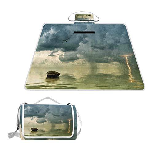 KASABULL Acquerello Ritratti di Animali Domestici con Papillon e Pois Coperta da Picnic Spiaggia Tappetino Impermeabile Anti Sabb