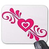 Gaming Mouse Pad Herzf?rmige Spitze Design f¨¹r Desktop und Laptop 1 Pack