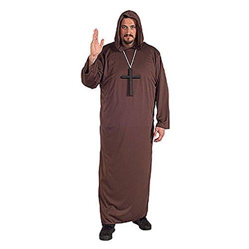 mantel mit Kapuze Mönch Plus Größe (Halloween Priester Kostüm)