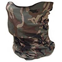 "Tour de Cou Masque Cagoule 12 en 1 ""Woodland Camouflage"" Airsoft - Paintball - Moto - Ski - Snow - Surf - Outdoor"