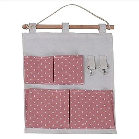GYMNLJY Prodotti per la casa Oxford panno 4 griglia appendere il borsa gancio parete Storage Multi-Purpose Storage Box , a