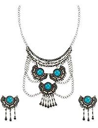 Zaveri Pearls Multi Layer Trendy Junk Necklace Set For Women-ZPFK6457