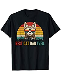 Uomo Best Cat Dad Ever Tshirt - Cute Vintage Best Cat Dad ever Maglietta