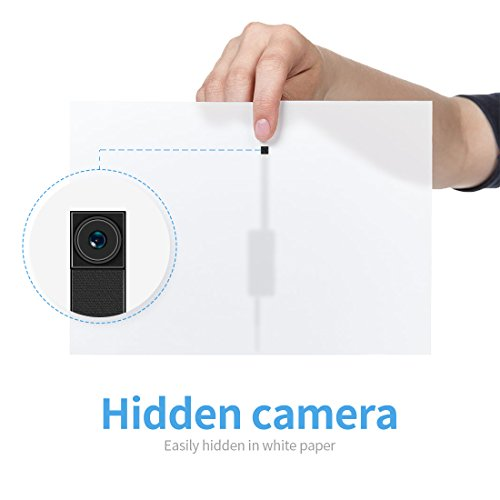 FREDI Microcamera spia HD 720P con rete Wireless micro ip camera Wi-Fi Telecamera nascosta cam modulare P2P fai da te senza fili con sensore di movimento - Videocamera DV Digital Video Recorder - 8