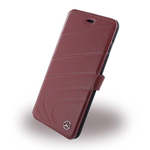 Mercedes MEFLBKP7LCLRE Echtleder Booktype Schutzhülle für Apple iPhone 7 Plus classic rot rot