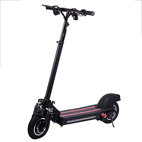 "TUANMEIFADONGJI Scooter eléctrico 40-60km / h Patinetes eléctricos Plegable de 10""de Doble Conducir - Motor sin escobillas de 1200 W con neumáticos Todoterreno - Entrega en almacén alemán"