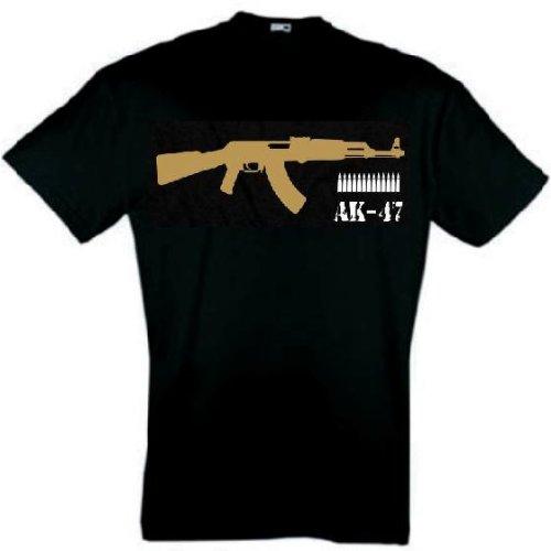 world-of-shirt Herren T-Shirt AK 47 schwarz
