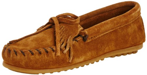 Fransen Kilty Mokassins (Minnetonka Unisex-Kinder Kilty Suede Moc Mokassin Braun (Dusty Brown) 29/30 EU)