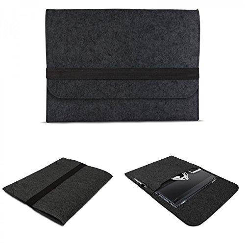 eFabrik Sleeve Cover für Lenovo ThinkPad Yoga 12,5 Zoll ( 31,8 cm ) Notebook Hülle Ultrabook Laptop Cover Hülle Filz, Farbe:Dunkel Grau