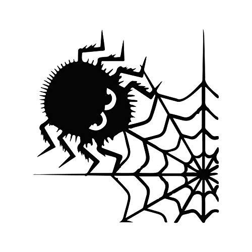 Wandtattoo aus Vinyl, Spinnen und Netz, 58,4 x 55,9 cm, lustiger Halloween-Dekoration, Aufkleber - Kinder und Jugendliche Erwachsene drinnen und draußen, für Fenster, Wohnzimmer, Büro