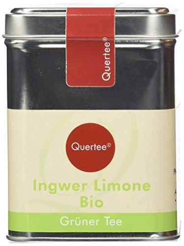 Quertee – Grüner Tee – Ingwer Limone in einer Teedose – 110 g – Loser Biotee, 1er Pack (1 x 110 g)
