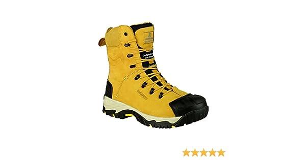 6-14| Amblers FS998C Waterproof Side Zip Up Honey Combat Safety Boot