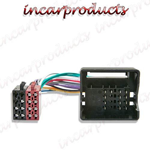 Inex Passend für BMW Z3 Flache Anschlussstifte Iso Stereo Autoradio Anlage Kabelbaum Adapter Verkabelung Kabel -