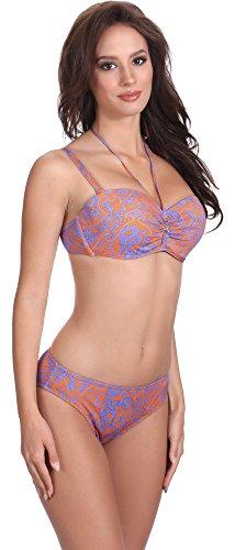 Feba Damen Push Up Bikini Set L3ND1 Muster-423