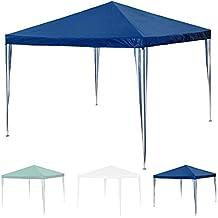 Nuevo TecTake Gazebo jardín carpa fiesta camping tienda cerveza 3 x 3 m - disponible en diferentes colores - (Azul | No. 401618)