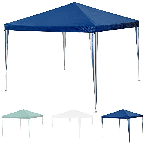 TecTake Pavillon Partyzelt Gartenzelt 3x3m - diverse Farben - (Blau | Nr. 401618)