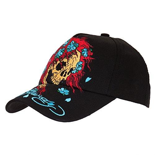 Preisvergleich Produktbild Ed Hardy-Skull Perücke Youth Baseball-Kappe größenverstellbar