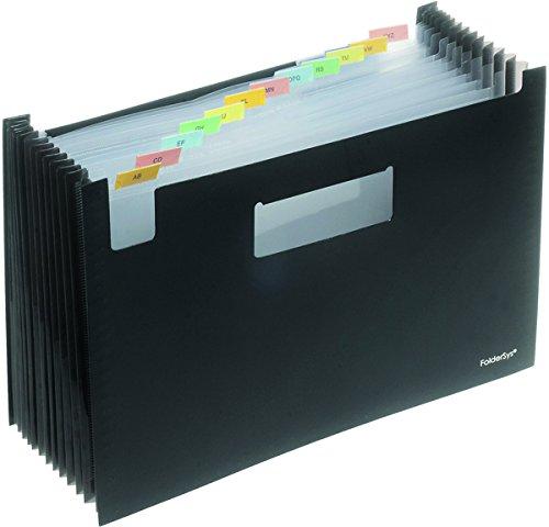 PP-Fächer-Stehsammler A4, 12 Fächer, schwarz, 1 Stück Stück