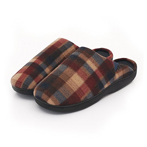 &zhou In autunno e inverno, Pantofole, uomini, in cotone, morbido, comodo, caldo, insapore, peluche, spessa, antiscivolo Red