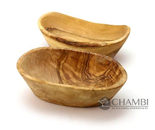 Chambi - Cuenco de Madera de Olivo (Ovalado), 16-2