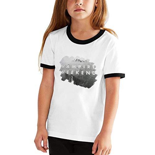LIONMODE Mädchen Vampire Weekend Druck Kurzarm T-Shirt