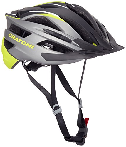 Cratoni Fahrradhelm Agravic, Anthracite/Lime/Black Matt, 54-58 cm, 111008A1
