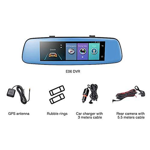 1080P Mini WiFi Auto 7,84 Zoll Kamera DVR Video Dash Cam Recorder Monitor Nachtsicht 140 ° APP für Android/iPhone - schwarz (Cam Video Recorder)