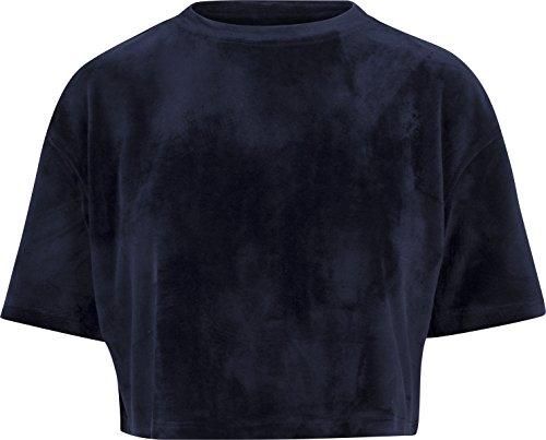 Navy Tee (Urban Classics TB1729 Damen Ladies Velvet Short Kimono Tee T-Shirt, per Pack Blau (Navy 155), Large (Herstellergröße: L))