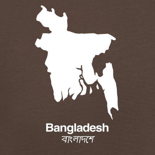 Bangladesh / Bangladesch Silhouette - Herren T-Shirt - 13 Farben Schokobraun