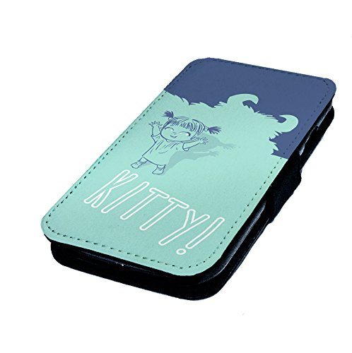 iPhone 4/4S, Design Boo Kitty. Schutzhülle Leder Flip-Telefon Kunstleder. Monsters Inc (Inc Kitty Monsters)