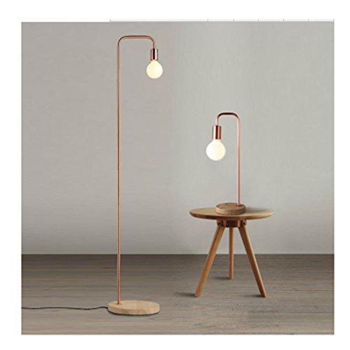 Lampes de table Table de fer en bois Lampe moderne Minimaliste étude Creative Nordic Chambre Lampe de chevet Salon Art Déco Lampe de table ( Couleur : Bronze )