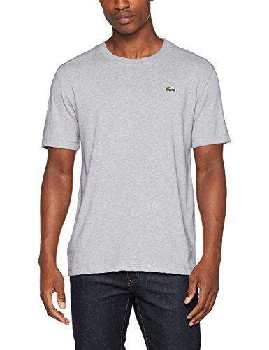 Lacoste Sport TH7618, Camiseta Hombre, Gris (Argent Chiné Cca), Medium (Talla del fabricante: 4)