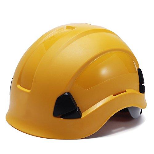 (MASUNN Abs Sicherheit Helm Bau Klettern Steeplejack Arbeiter Schützende Harte Hüte - Gelb)