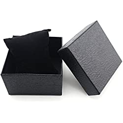 Gift Box Case - TOOGOO(R)Fashion Girl's Present Gift Box Case Earrings Bracelet Bangle Jewelry Watch Box Black Litchi Textured
