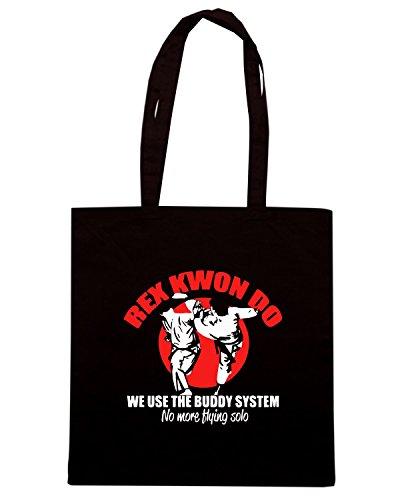 T-Shirtshock - Borsa Shopping TAM0157 rex kwon do hoodie dark Nero