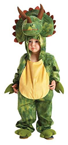 Kostüm Kinder Triceratops Kapuzenoverall Kinderkostüm Dino - Kleinkind Dino Kid Dinosaurier Kostüm