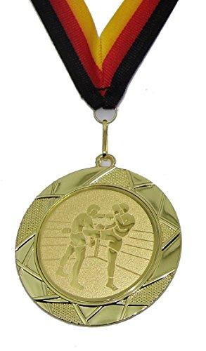Karate Kampfsport Medaillen 70mm Emblem 50mm mit Deutschland-Band Pokal Turnier Pokale & Preise