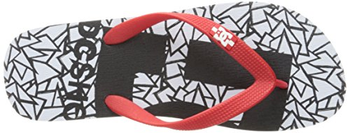 Dc Shoes Spray Graffik D0303276, Infradito Uomo White/Black/Athletic Red