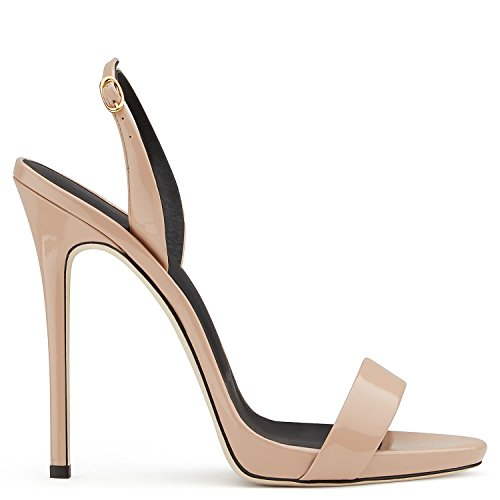 uBeauty - Sandali con tacco alto - Sandali sexy - Sandali della cintura della caviglia Beige