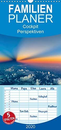 CockpitPerspektiven - Familienplaner hoch (Wandkalender 2020 , 21 cm x 45 cm, hoch): Atemberaubende und einzigartige Momente, Bilder und Perspektiven ... (Monatskalender, 14 Seiten ) (CALVENDO Orte)