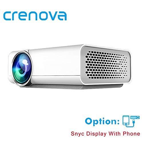 Crenova Full HD Projektor Unterstützung 4 Karat * 2 Karat Videos Für Heimkino Projektoren Verdrahtete Mit Die Gleichen Bildschirm mit HDMI AV USB Beamer