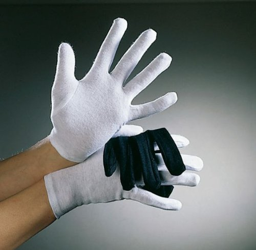 Festartikel Müller Kostüm Zubehör Baumwoll Handschuhe weiß für Kinder Karneval Fasching (Weiße Kinder Handschuhe)