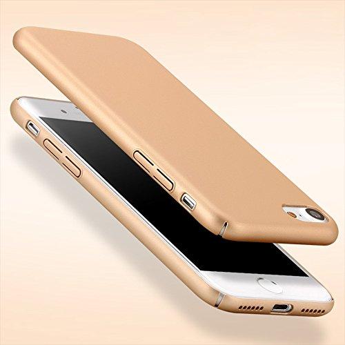 Coque pour Apple iPhone 7, Aohro Ultra-Thin Scratch Resistant Case Cover Skin Shell PC Dur edge couverture supérieure Housse Etui de Protection, Or Or