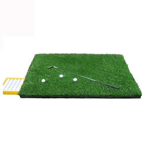 ZHANG MEI Golfmatte Golf Strike Matte Double Sided Pad Swing Trainingsmatte Double Sided Grass Golf Strike Matte (Größe: 100 * 120cm, Verpackung von 1) Grün (Golf Swing-matte)
