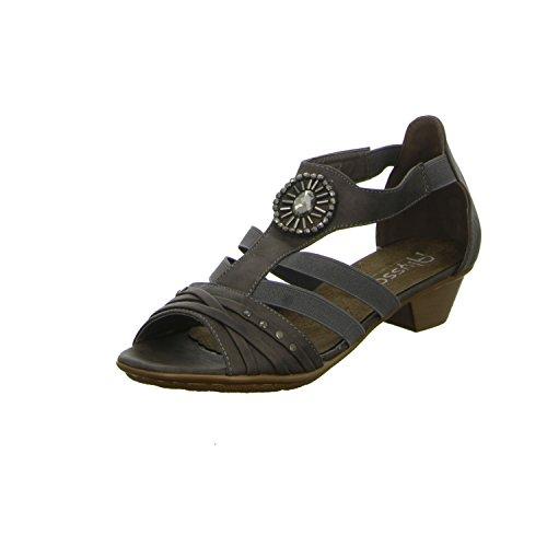 Alyssa L51703P Damen Sandalette eleganter Boden Grau (Grau)